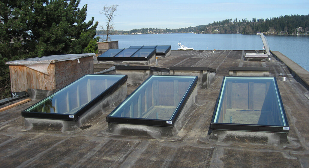 3 Flat Glass Skylights